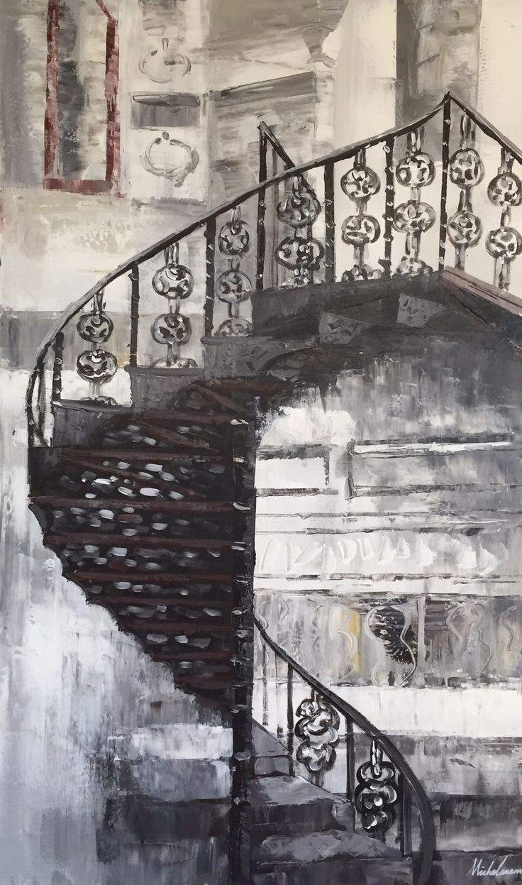 Målerikonst   Stairs   60x100cm via Oljemålningar