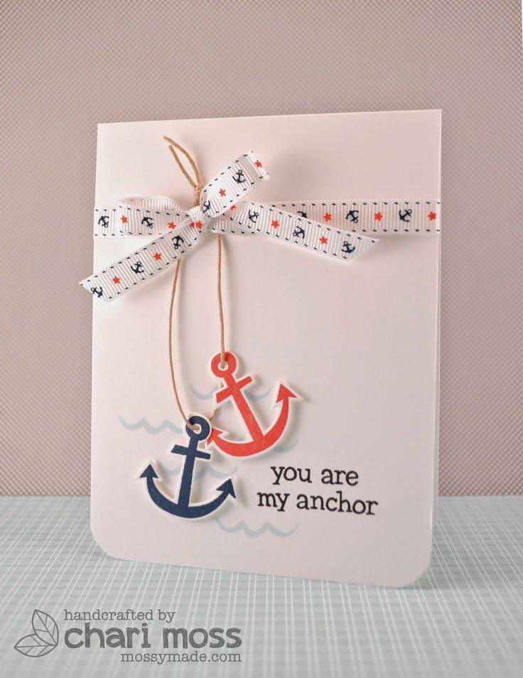 Lawn Fawn & May Arts Float My Boat Anchor card by Chari Moss.