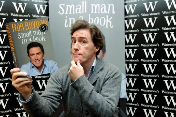 Rob Brydon in Waterstones, Cardiff to promote his new book