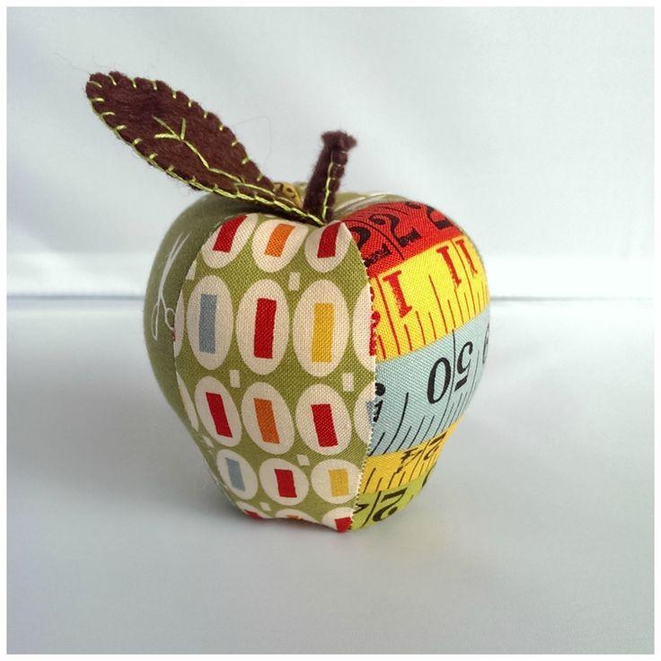 Green Ruler apple pincushion https://www.facebook.com/kazzalblue/photos/a.10152742712295129.1073741843.144324370128/10152743631915129/?type=1&theater