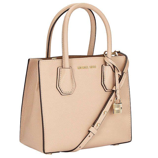 BuyMICHAEL Michael Kors Mercer Medium Leather Tote Bag, Oyster Online at johnlewis.com