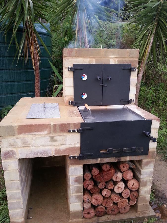 New Bbq Smoker Oven Build Cuptor Grădină Afumare