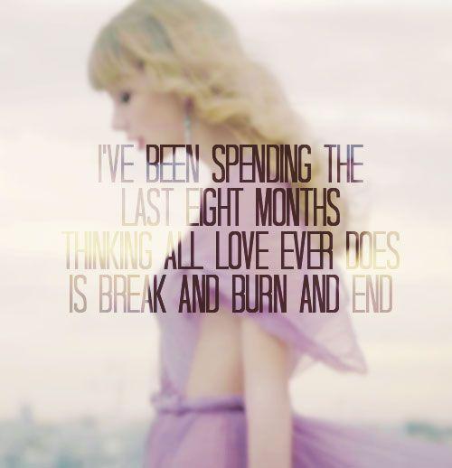 "Begin Again by Taylor Swift. A little more ""Begin Again."""