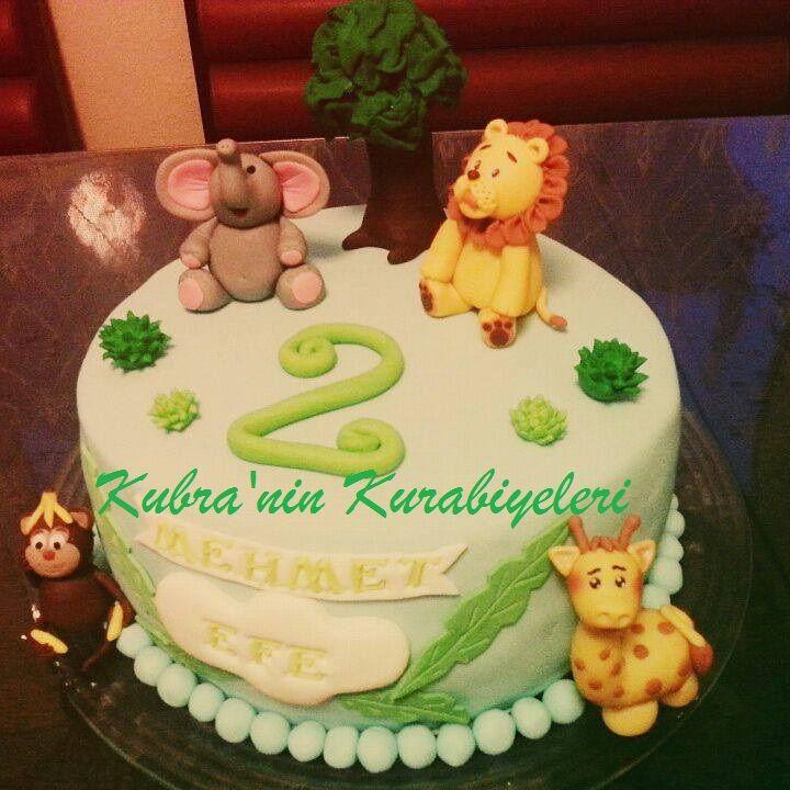 Vahşi hayvanlar pasta