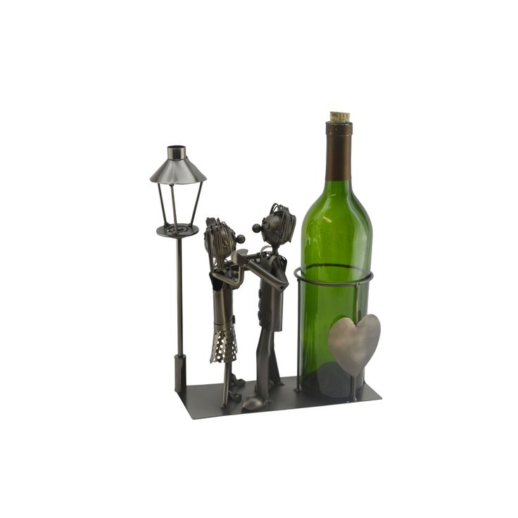 Three Star WineBodies Lovers by the Lamp Post Wine Bottle Holder