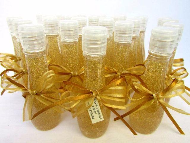 Lembrança de Natal Sabonete Líquido Dourado