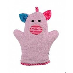 Zoocchini Bath Mitt - Pinky the Piglet makes bath time fun! Can be used for washing up or for fun puppet play.