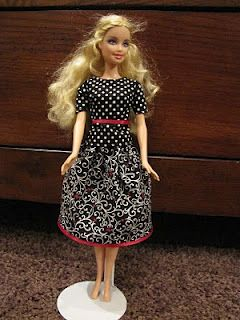I'd love to make some of these modest clothes from modestbarbie.blogspot.com for Ceci's barbies!