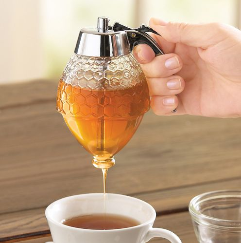 A honey dispenser ($13) so you don't have to deal with that wooden stick.