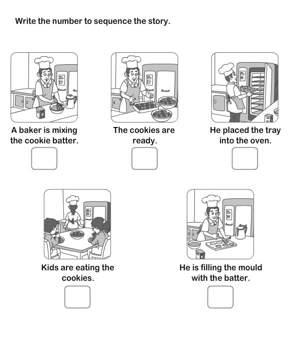 Picture Sequence Worksheet , Worksheet For Kids , Free Kids Worksheet And Learning Games--  Looks like a really great site!