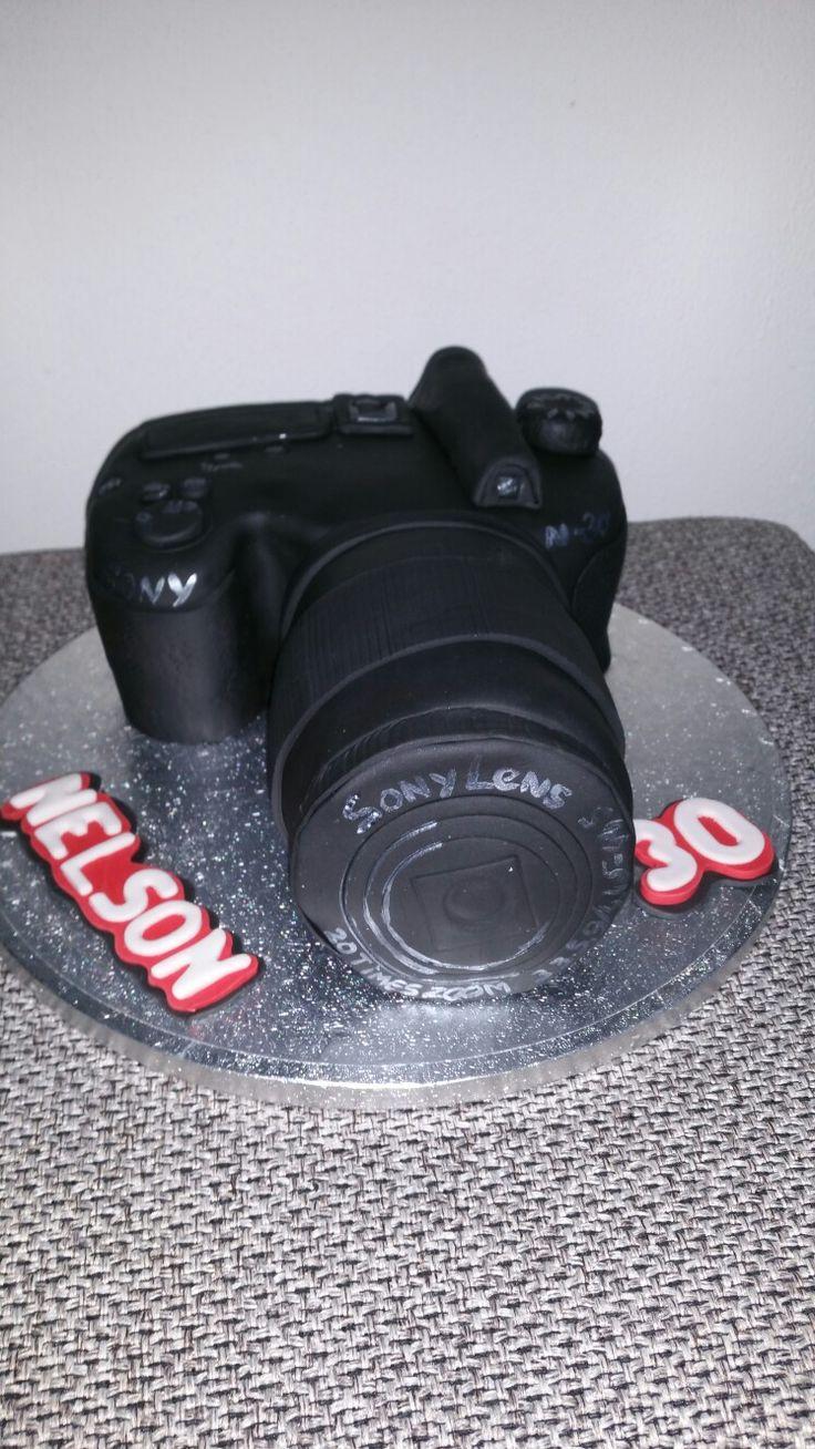 Sony camera taart