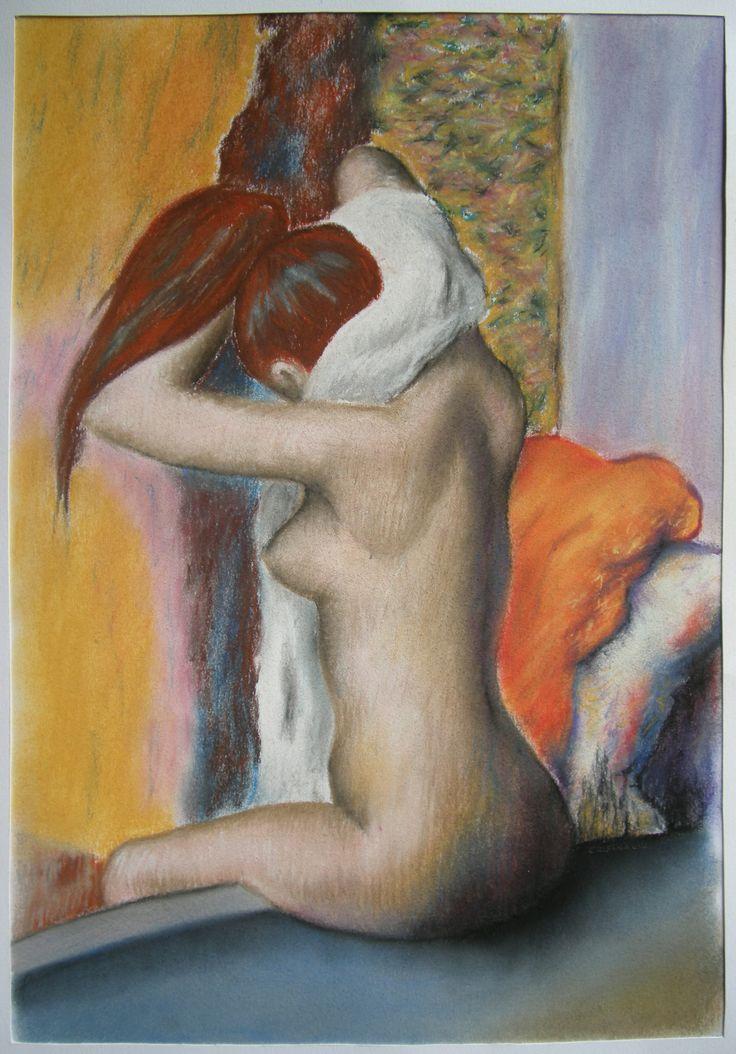 Edgar Degas, Donna che si asciuga il collo, 1896-98