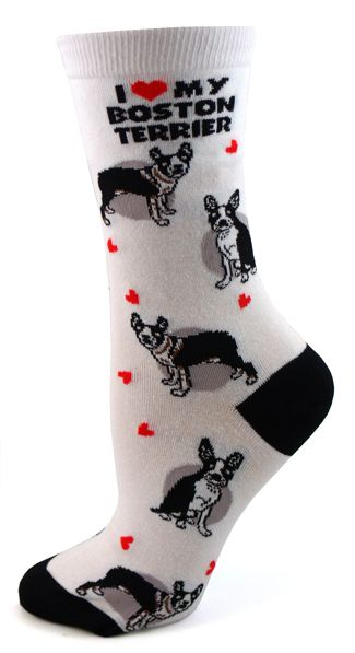 Love your Dog? Then you'll love these socks. Cute & comfortable, they even list characteristics of your dog's breed. Details:* Cotton, Spandex, Nylon Blend* Adult Size Medium 9-11 (fits ladies shoe si