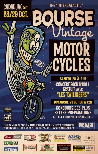 BOURSE VINTAGE, MOTOR CYCLES, CADAUJAC, POURVUKCAROUL, concentration moto, CAFE RACER, HARLEY DAVIDSON, BIKE