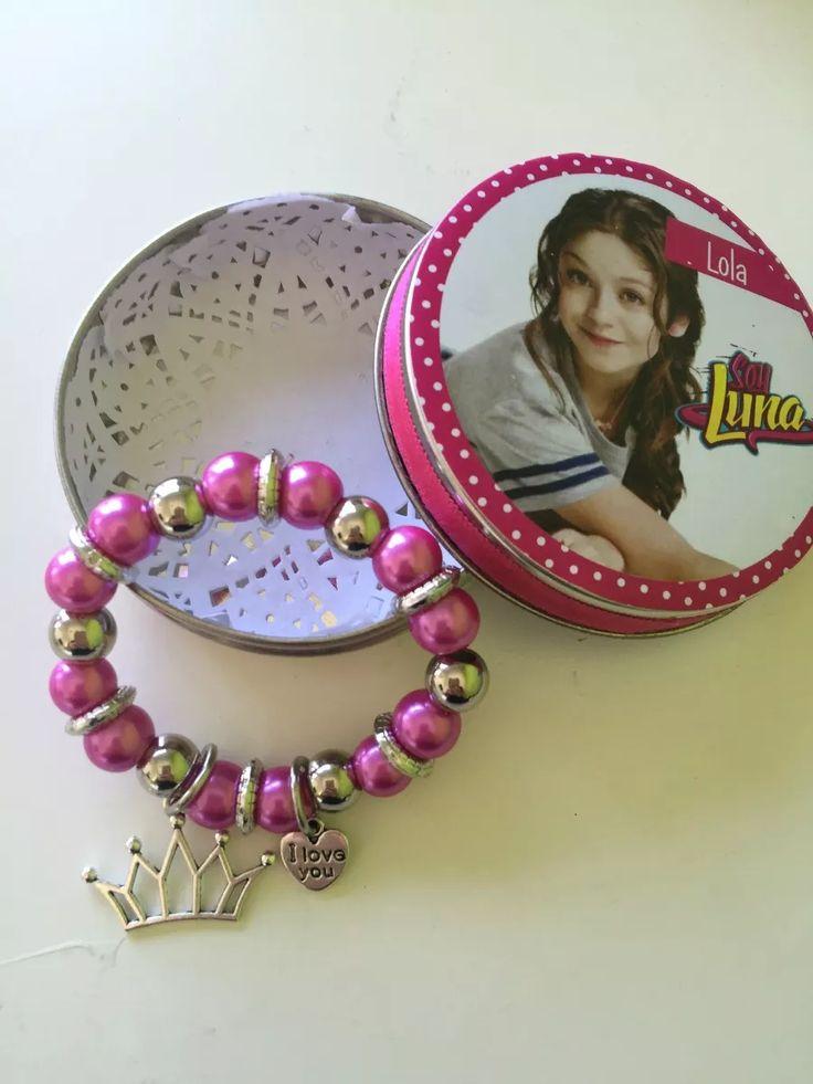 Souvenir Soy Luna Pulseras Y Latita Personalizada - $ 450,00