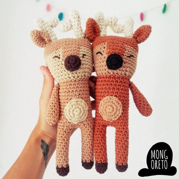Deer Amigurumi Pattern by Mongoreto on Etsy