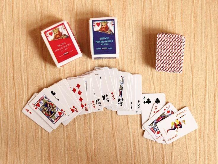 Re-ment Dollhouse Miniature Games Poker for blythe Barbie set   ( A ) #Rement