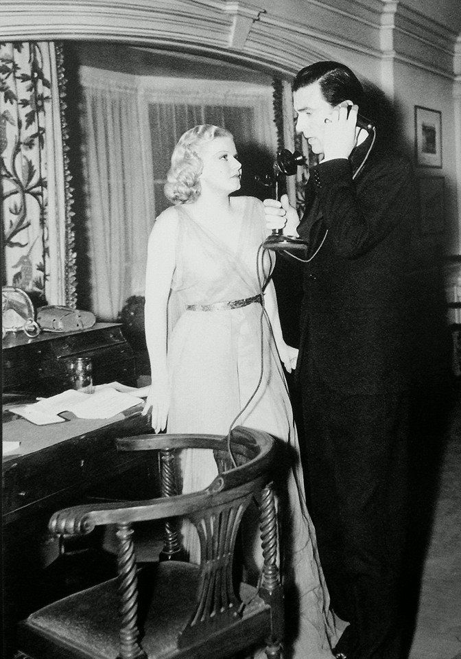 Last photo ever taken of Jean Harlow, rehearsing with