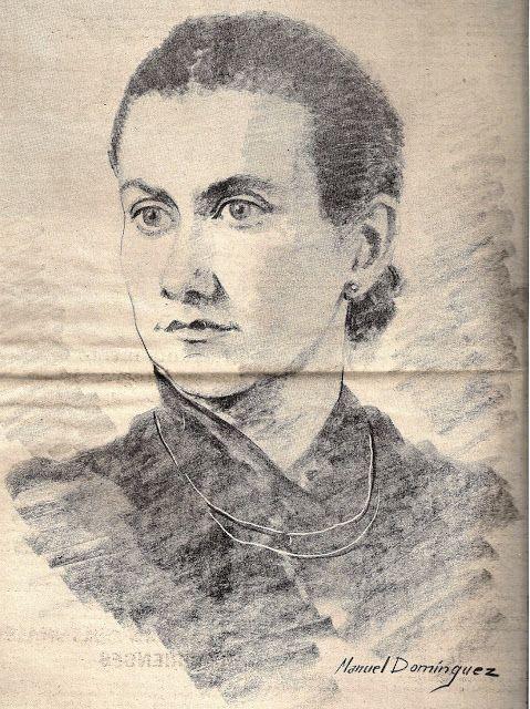 FRANCISCO GIL CRAVIOTTO: CELIA VIÑAS Dibujo de Manuel Martínez sobre una de las fotos más conocidas de Celia.