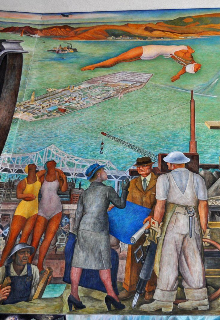 88 best images about colorful sf murals on pinterest city college jazz and rincon for City college of san francisco diego rivera mural