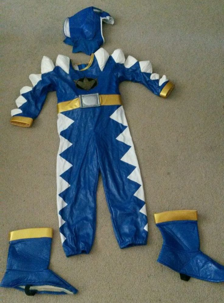 Complete blue POWER RANGERS costume with suit, head and shoe coverings!  #Disney #CompleteCostume