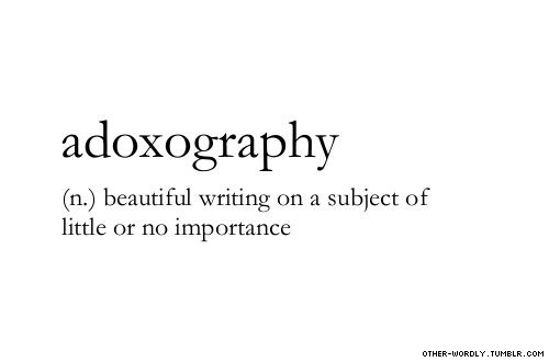 Adoxography