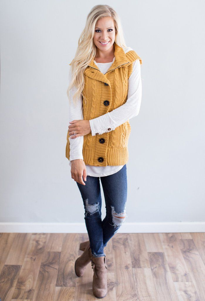 This vest is the absolutely perfect layering piece! It is pictured with our…
