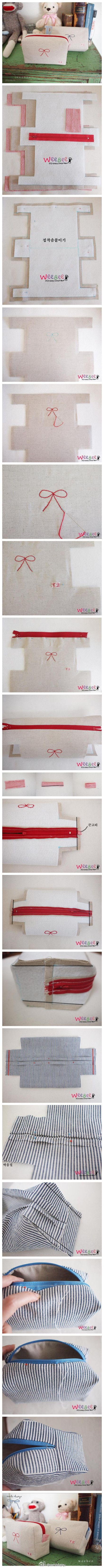 Neceser purse tutorial
