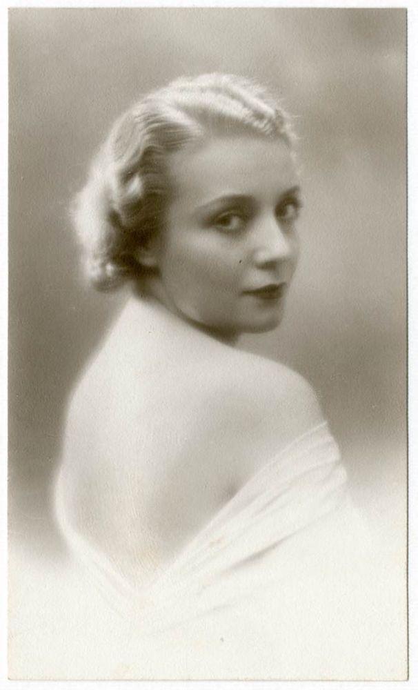 DONNA ADA Foto Ritratto d Epoca Old Photo Portrait Vintage 1935 Moda F290