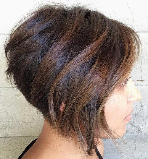 inverted bob with balayage