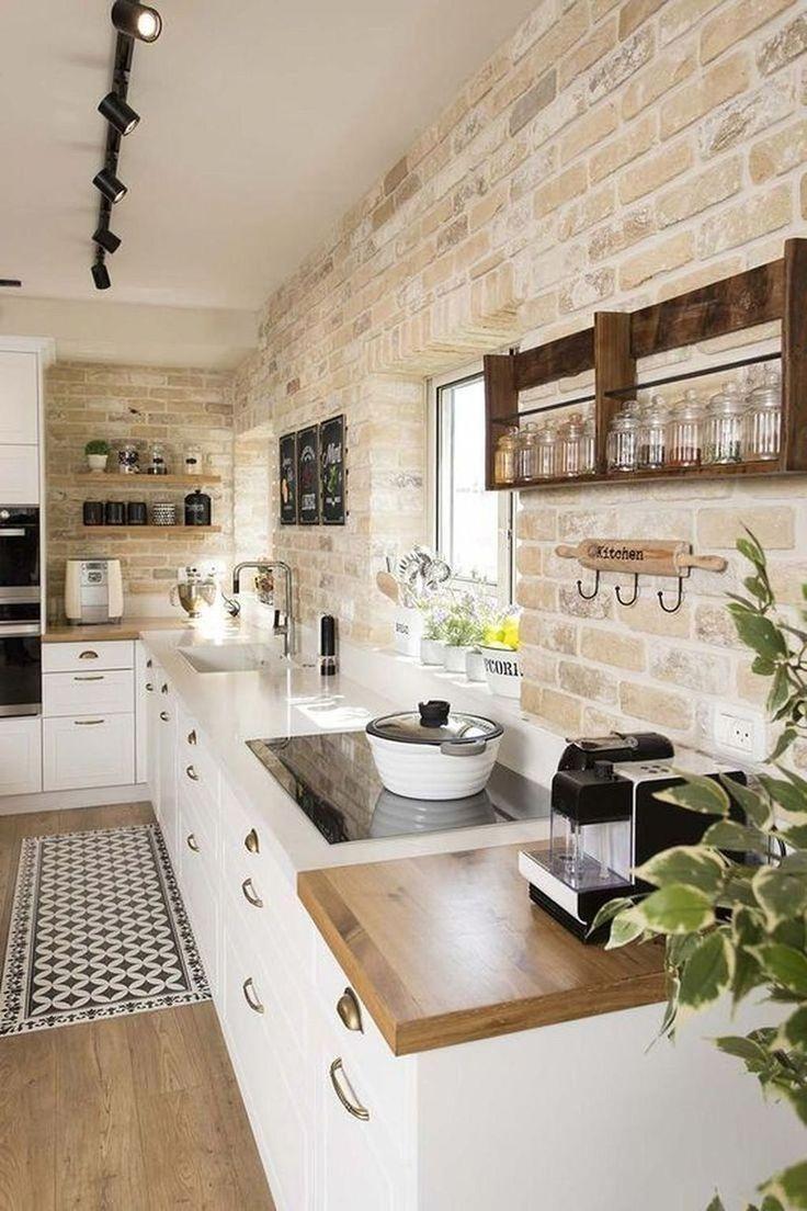 Stilvolle 45 coole Bauernhaus-Küchen-Farbdesign-Ideen #WoodWorking