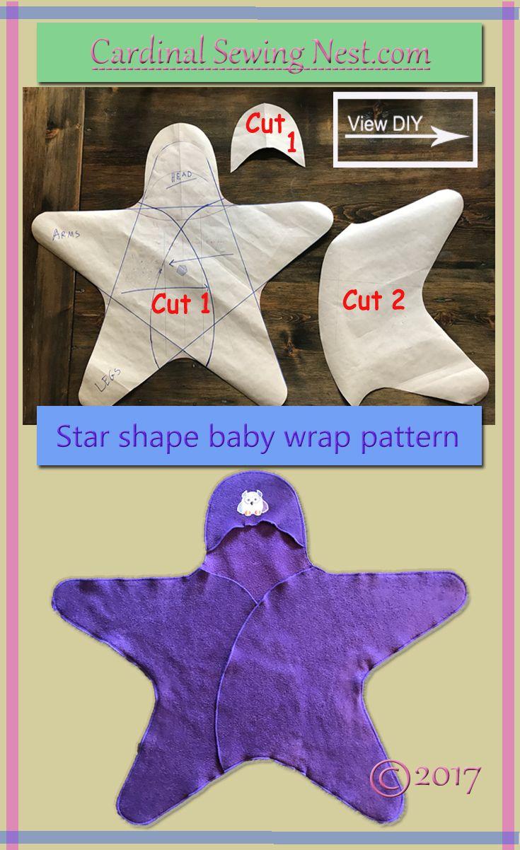 Star shape baby wrap pattern