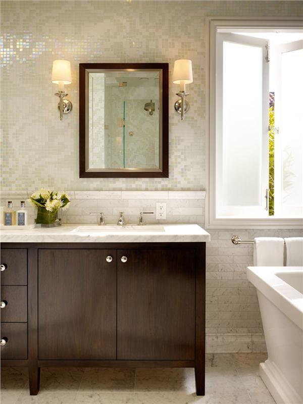Contemporary modern retro bathroom by tineke triggs for Vintage bathroom wallpaper
