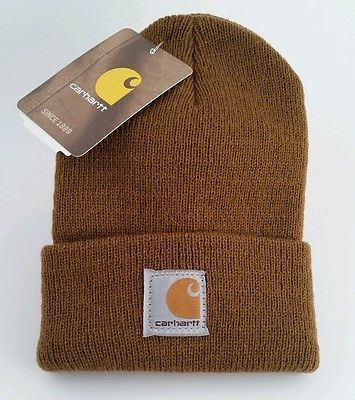 Baby-Carhartt-Adorable-Mini-Me-Made-in-the-USA-Deer-Brown-Toddler-Snow-Hat-NWT