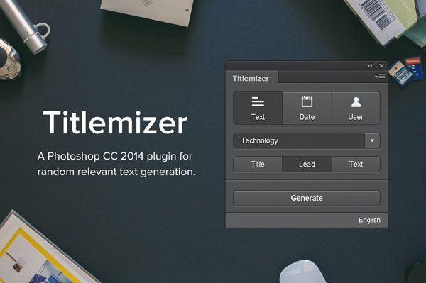 TITLEMIZER, un plugin Photoshop pour générer des titres et des textes
