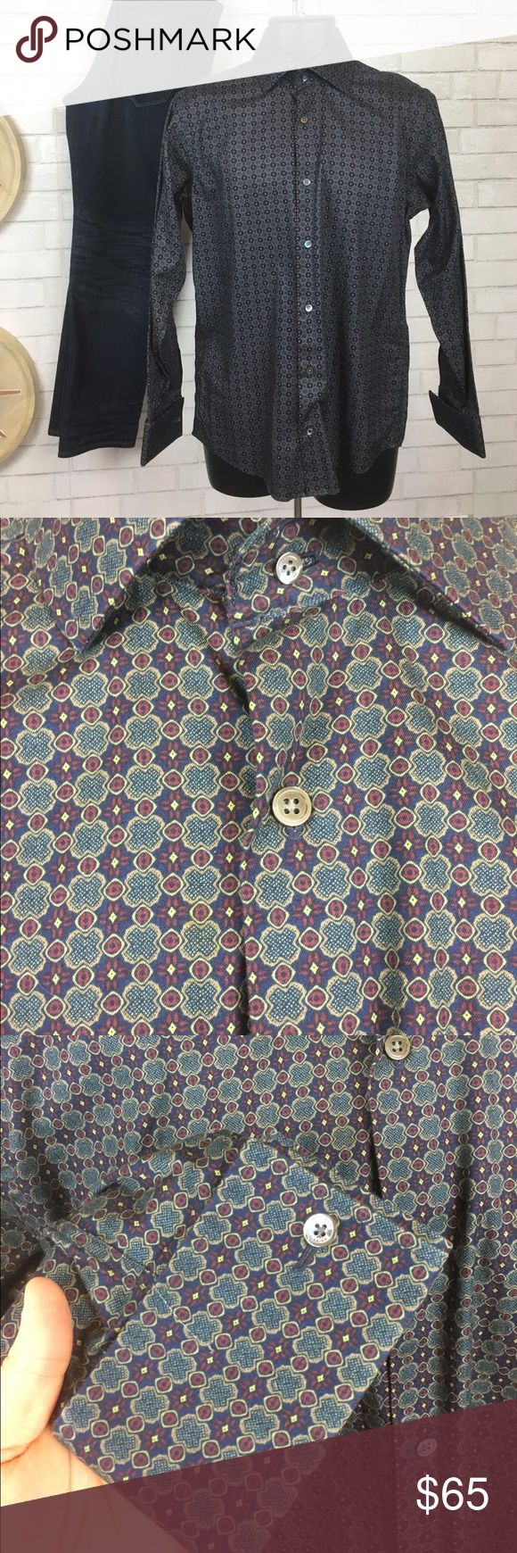 Banana Republic French Cuff ButtonDown Dress Shirt Great condition, no visible stains or tears, shirt is still has crisp folds and material feels fresh and unworn. French Cuff sleeves to be worn with cufflinks Banana Republic Shirts Dress Shirts