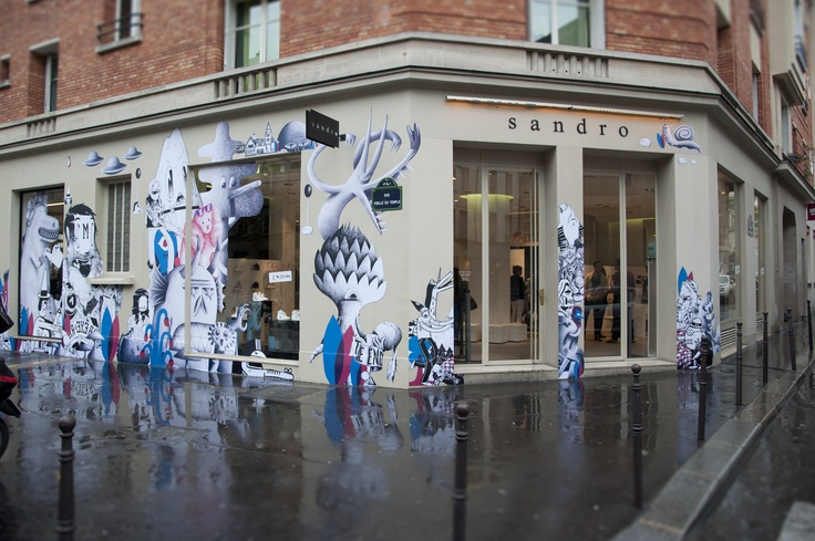 pop up store 50 rue vieille du temple paris sandro. Black Bedroom Furniture Sets. Home Design Ideas