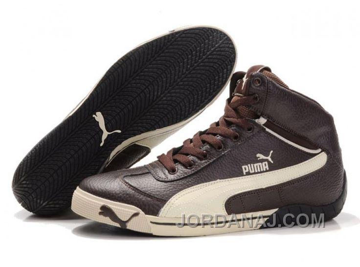 Puma Schumacher Racing High Tops Shoes Brown/Beige Lastest