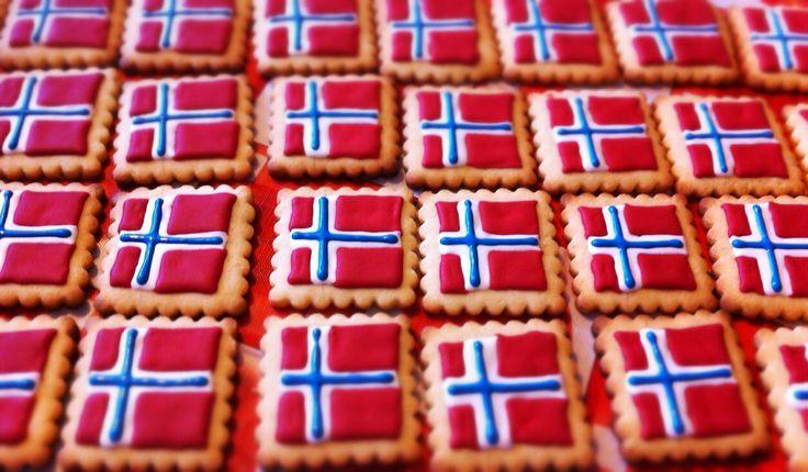 Galletas bandera noruega