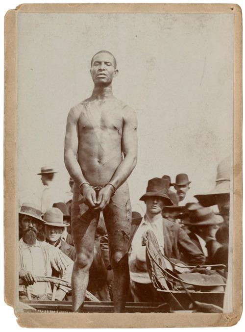 The Lynching of Frank Embree.  The journalist G.L. Godkin wrote in 1893:      Man is the one animal that is capable of getting enjoyment out of the torture and death of members of its own species. We venture to assert that seven-eighths of every lynching part is composed of pure, sporting mob, which goes...just as it goes to a cock-fight or prize-fight, for the gratification of the lowest and most degraded instincts of humanity.