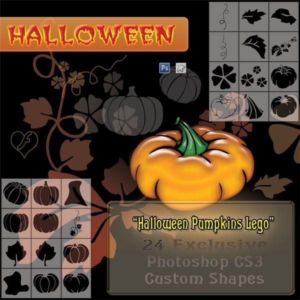 Holiday DTP: Photoshop Halloween Custom Shapes: Halloween Custom, Photoshop Halloween, Halloween Pumpkins, Pumpkin Lego, Photoshop Resources, Flashtuchka Photoshop, Custom Shape