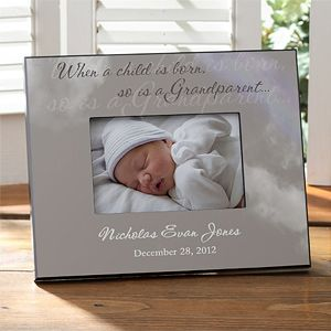 A Grandparent Is Born Personalized Frame