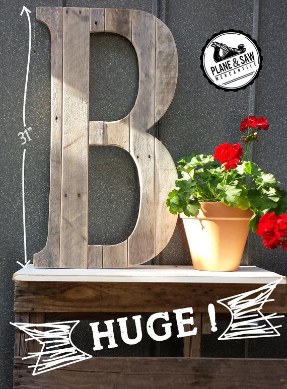 Rustic Letter B, Big Wooden Letter, Reclaimed Wood Letter B, Wedding Alphabet, Rustic Wood Letter, Industrial Farmhouse, Reclaimed Wood Art
