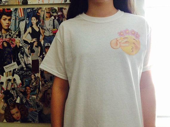 Flower Crowns - Flower Crown Emoji - Peace Sign Emoji - Teen Shirts - Cute Tees