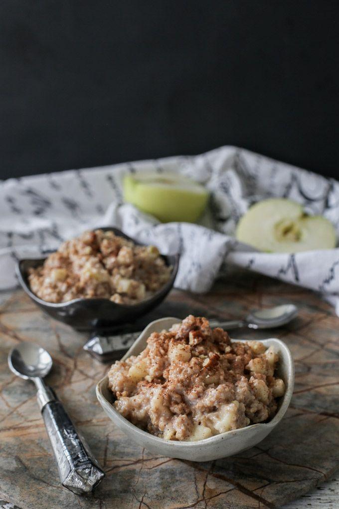 Apple Pie Oatmeal Breakfast Recipe - ready in 5 minutes!