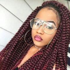 Latest Braided Hairstyles of the week #boxerbraids…
