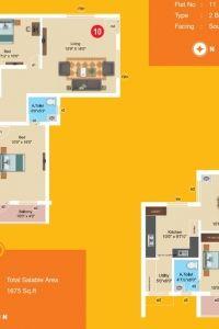 Aashritha - Apartment Floor Plan