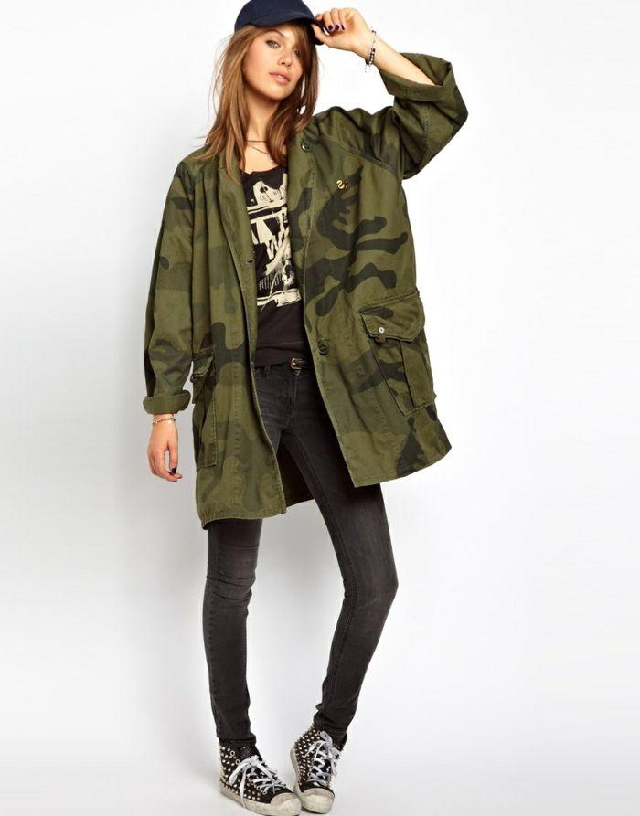 17 meilleures id es propos de veste militaire femme sur pinterest veste militaire mode de. Black Bedroom Furniture Sets. Home Design Ideas