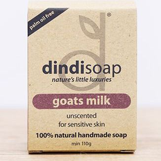 Dindi Goats Milk Soap | Unscented for sensitive skin | 100% handmade soap | Krinkle Gifts Ideas