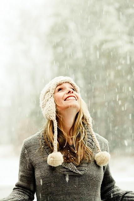 snowy portrait idea